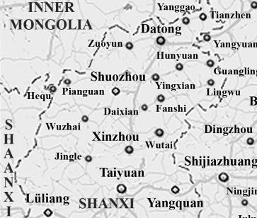 shanxi-map