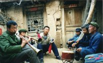 Yangjiagou funeral 1999 https://stephenjones.blog/2017/03/14/walking-shrill-shawm-bands-in-china/