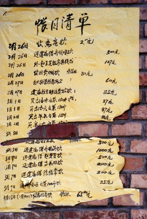 Gaozhuang list