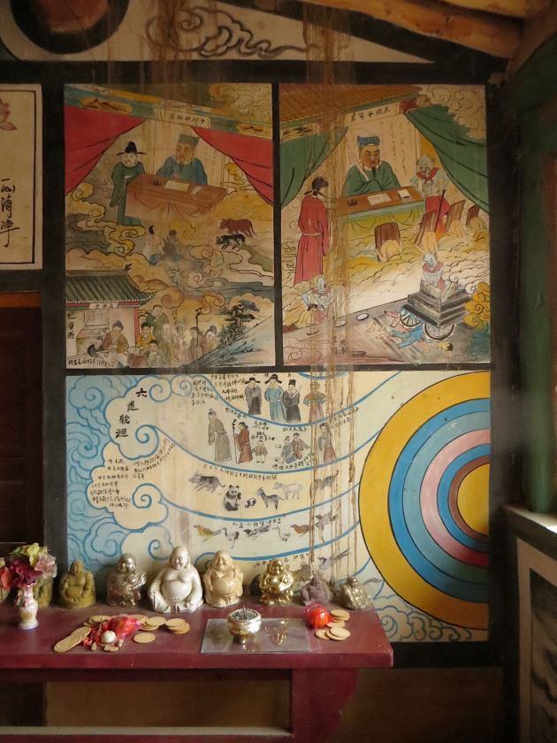 Dizang east wall murals