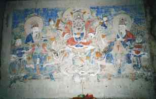 Rear central hall rear wall west mural