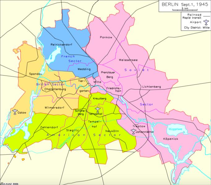 Berlin divided 1945