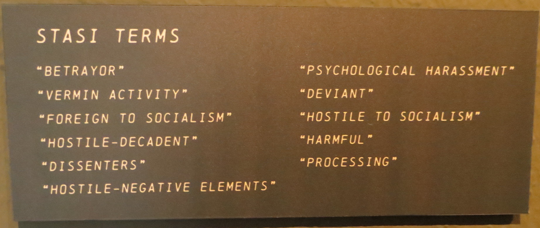 Stasi terms