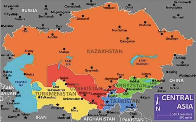 Central Asia since the 1990s