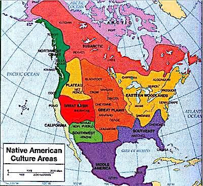 Map N. America