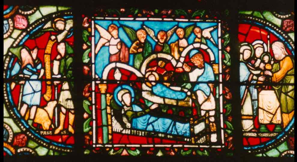 Nativité stained glass