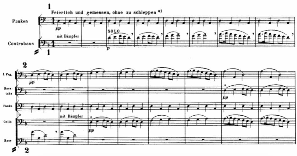 Mahler 1 bass