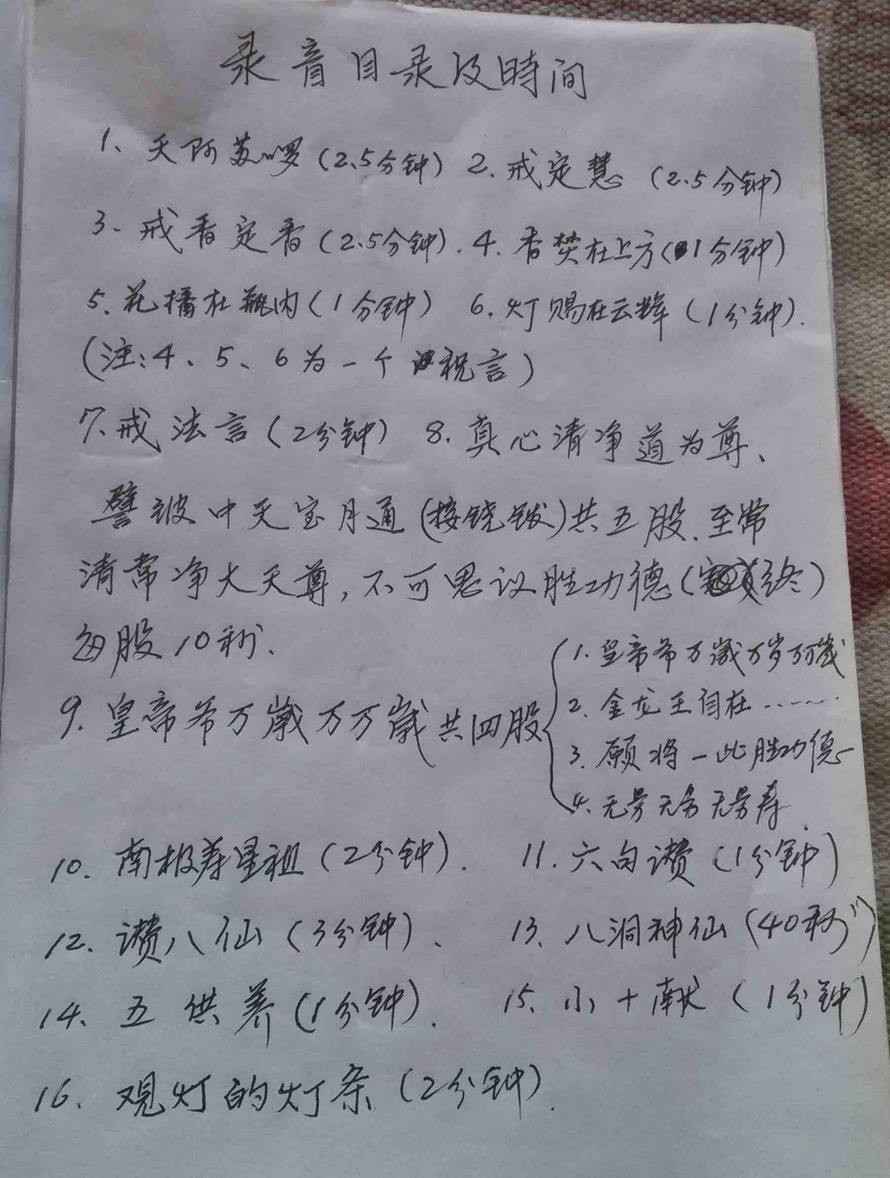 zhuyan tapes contents