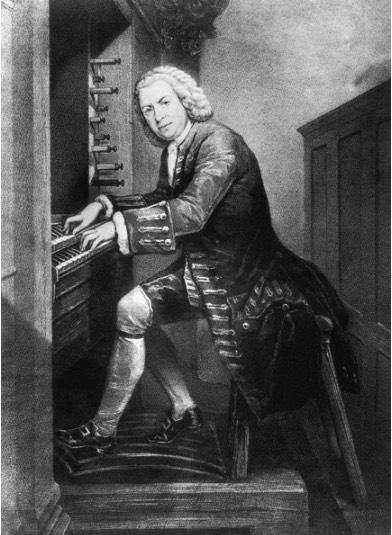 Bach at organ