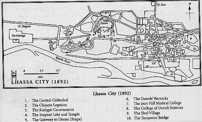 Holmes Lhasa map