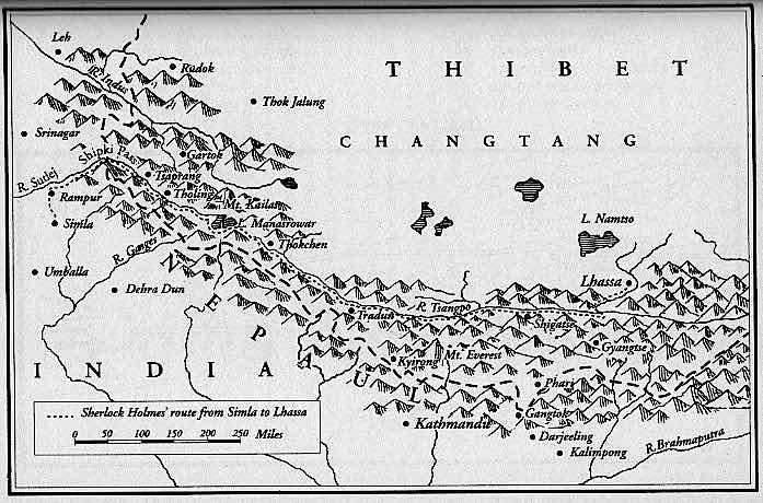 Holmes Tibet map