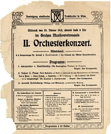 Zemlinsky concert 1905