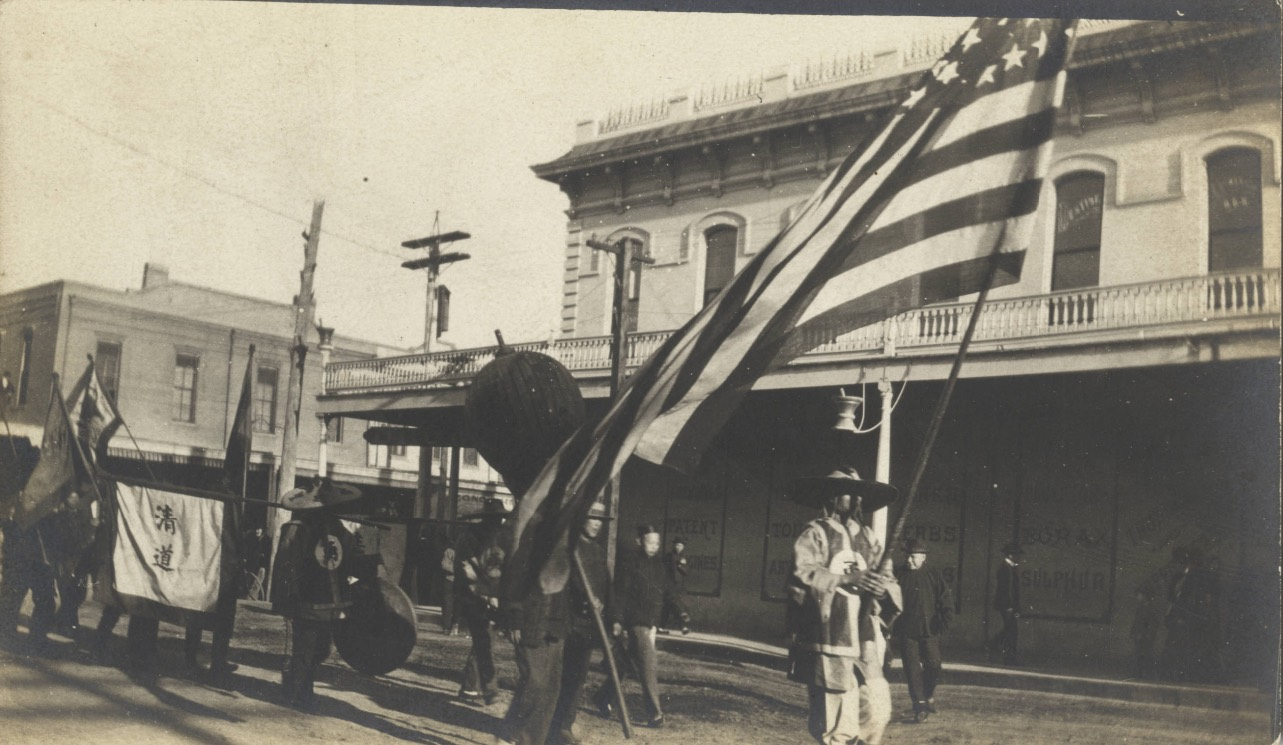 Chico funeral procession with American flag copy