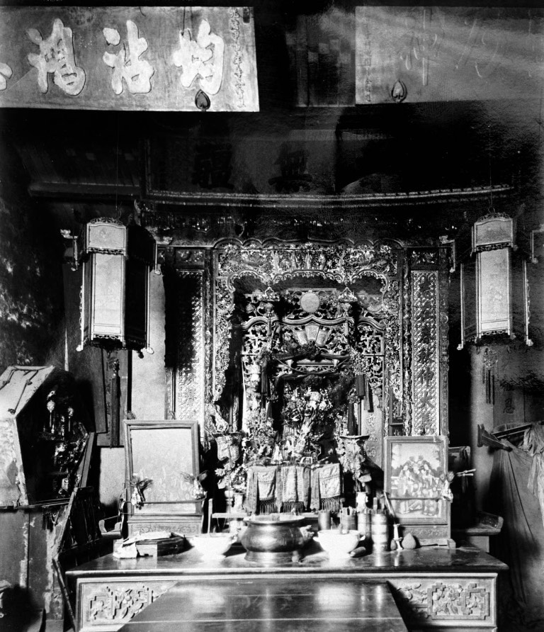 interior of the Chico temple showing altar copy