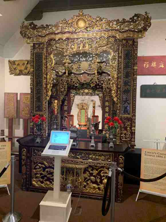 the altar as it stands in the Chico museum today copy